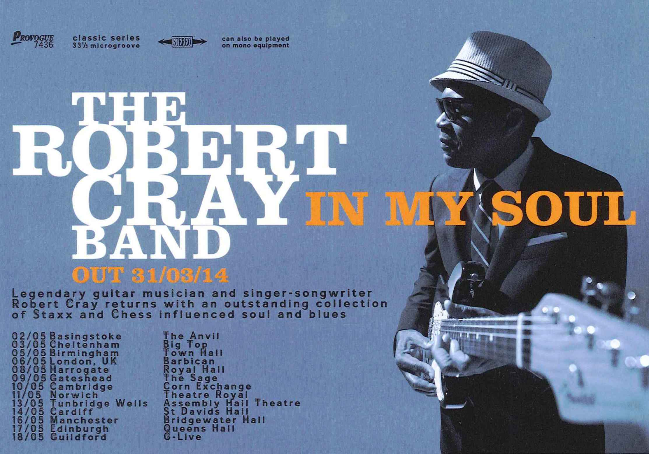 Robert Cray Uk Tour