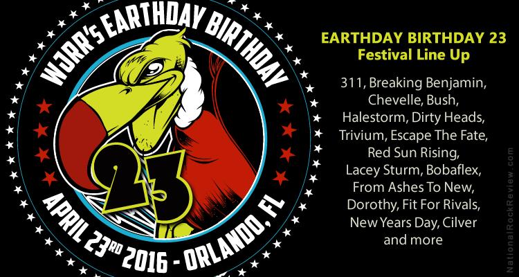 wjrr earthday birthday 101one WJRR to Host Earthday Birthday 23 in Orlando on 23 Apr 2016  wjrr earthday birthday